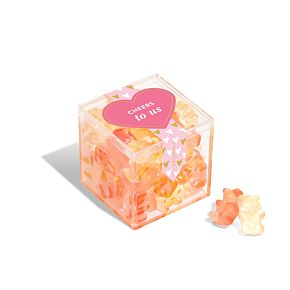 """Cheers to Us"" Champagne Bears® Candy Cube"