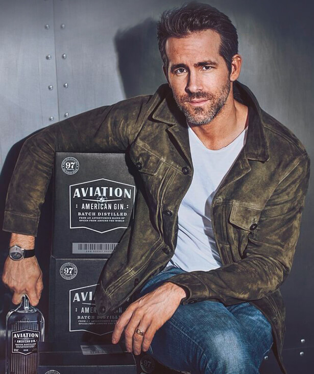 Take your taste buds to new heights with our limited-edition collection, created in partnership with Aviation American Gin, the world's highest-rated gin owned by actor Ryan Reynolds. Photo of Ryan Reynolds.